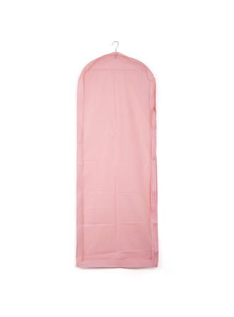 Garment Bags Gown Length Side Zip Tulle/PVC Pink Wedding Garment Bag (035192273)