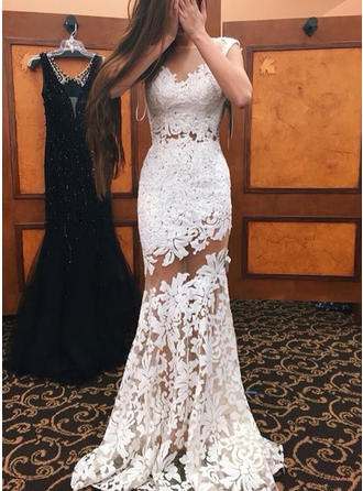 General Plus Trumpet/Mermaid Lace Prom Dresses