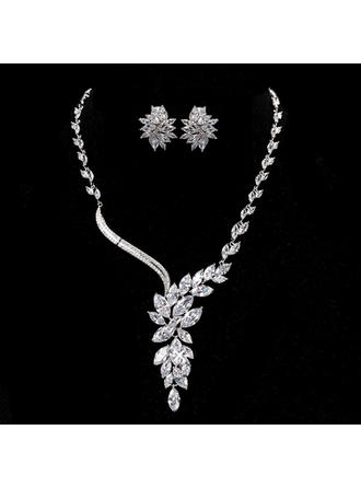 Jewelry Sets Alloy/Zircon Cubic Zirconia Lobster Clasp Earclip Wedding & Party Jewelry