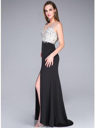 dramatic long prom dresses