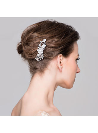 "Combs & Barrettes Wedding/Special Occasion/Casual/Party Rhinestone/Alloy 3.74""(Approx.9.5cm) 1.18""(Approx.3cm) Headpieces"