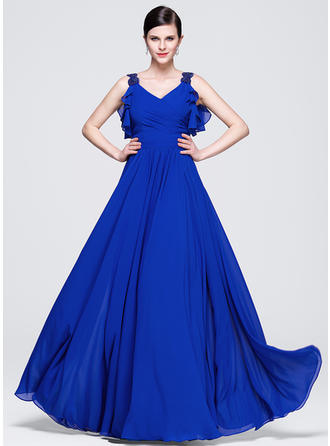 Glamorous Chiffon A-Line/Princess Zipper Up Evening Dresses