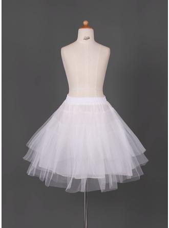 Petticoats Short-length Tulle Netting/Taffeta Full Gown Slip/Flower Girl Slip 3 Tiers Petticoats