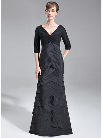 Stunning V-neck Trumpet/Mermaid Chiffon Taffeta Mother of the Bride Dresses