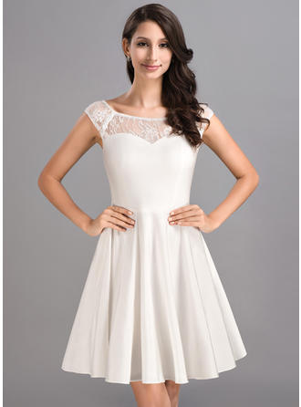 Modern Jersey Sleeveless Scoop Neck Homecoming Dresses
