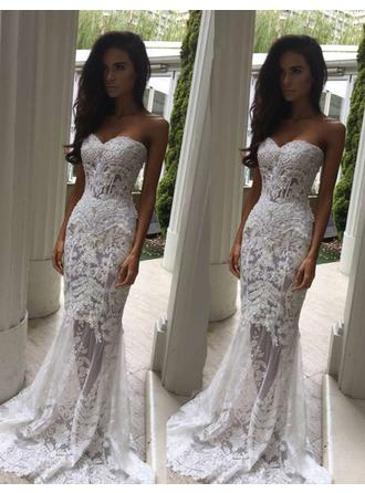 Trumpet/Mermaid Sweetheart Sweep Train Wedding Dress