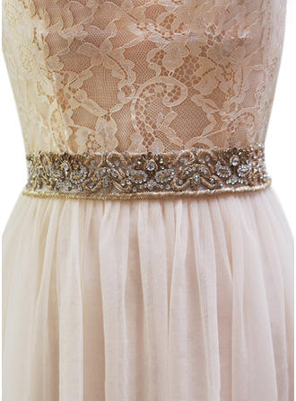 Women Satin With Rhinestones Sash Elegant/Beautiful/Gorgeous Sashes & Belts