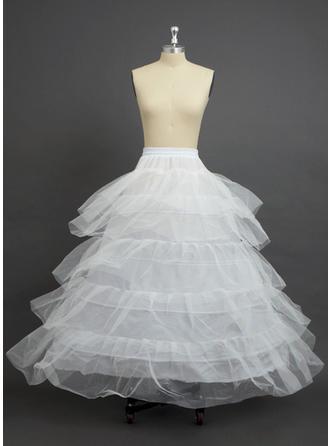 Petticoats Floor-length Nylon/Tulle Netting Ball Gown Slip 5 Tiers Petticoats