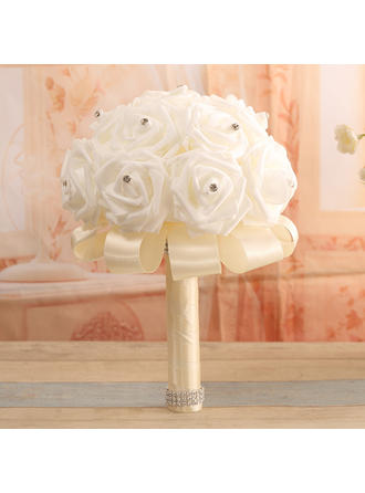 "Bridal Bouquets Round Wedding Satin 13.78""(Approx.35cm) Wedding Flowers"
