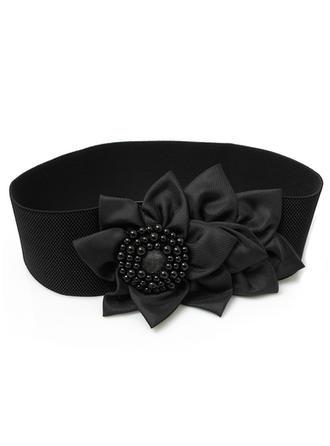 Mode Satin Gürtel mit Blume/Faux-Perlen