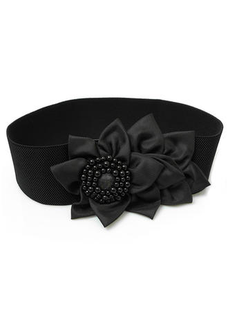 Women Satin With Flower/Imitation Pearls Belt Fashional Sashes & Belts