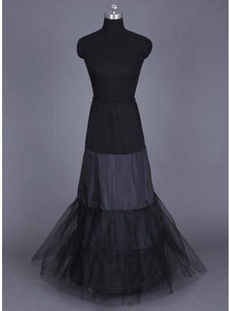 Floor-length Tulle Netting/Lycra A-Line Slip/Full Gown Slip 2 Tiers Wedding/Special Occasion Petticoats