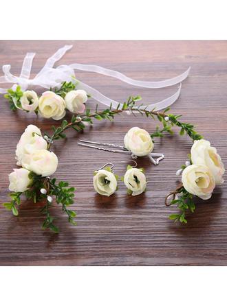 Blumen und Federn Lässige Kleidung/Outdoor Seide Blumen/Kunststoff Hübsche (In Einem Stück Verkauft) Kopfschmuck