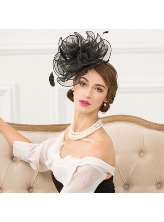 Organza With Feather Fascinators Vintage Ladies' Hats