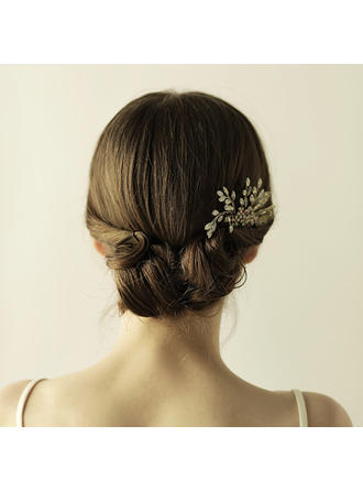"""Combs & Barrettes Wedding/Special Occasion/Party/Art photography Alloy/Glass 4.72""""(Approx.12cm) 2.76""""(Approx.7cm) Headpieces"""
