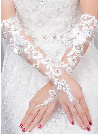 Tulle Ladies' Gloves Bridal Gloves Fingerless 35cm(Approx.13.78inch) Gloves (014132842)