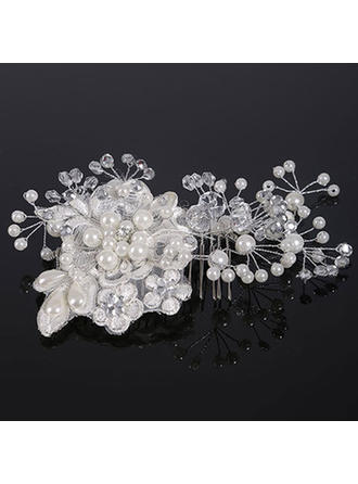 "Combs & Barrettes Wedding Crystal/Imitation Pearls/Lace 5.91""(Approx.15cm) 3.55""(Approx.9cm) Headpieces"