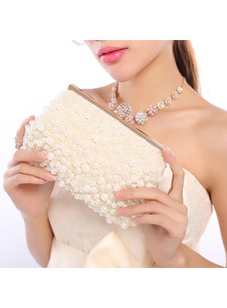 Clutches Wedding/Ceremony & Party Imitation Pearl/Beading Snap Closure Pretty Clutches & Evening Bags