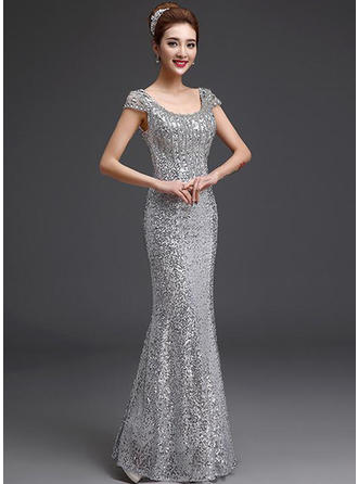 Trumpet/Mermaid Scoop Neck Floor-Length Evening Dress
