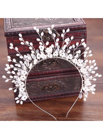 Ladies Fashion Alloy/Imitation Pearls Headbands With Venetian Pearl (Sold in single piece) (042152682)