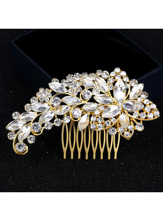 "Combs & Barrettes Wedding/Party Rhinestone/Alloy 4.33""(Approx.11cm) 2.56""(Approx.6.5cm) Headpieces"