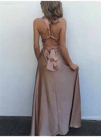 off shoulder brown evening dresses
