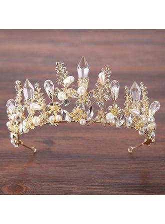 Damer Elegant Strass/Legering/Fauxen Pärla Tiaror med Strass/Venetianska Pärla