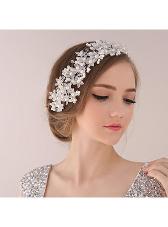 "Headbands Wedding/Special Occasion/Party Crystal/Alloy/Imitation Pearls 12.99""(Approx.33cm) Gorgeous Headpieces"
