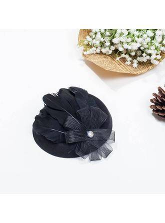 Feather/Net Yarn Fascinators Ladies' Hats