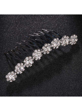 """Combs & Barrettes Wedding/Special Occasion Rhinestone/Alloy 2.99""""(Approx.7.6cm) 1.69""""(Approx.4.3cm) Headpieces"""