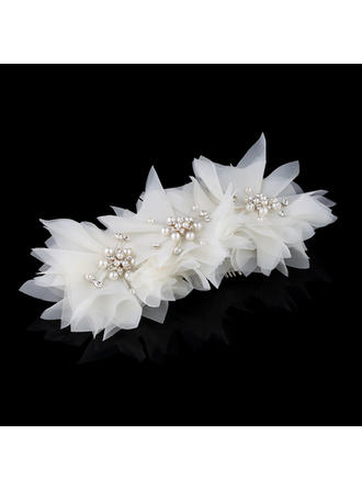 Gorgeous Rhinestone/Alloy/Imitation Pearls/Chiffon Combs & Barrettes With Rhinestone/Venetian Pearl (Sold in single piece)