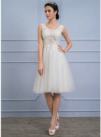 Tulle Lace A-Line/Princess With Newest General Plus Wedding Dresses