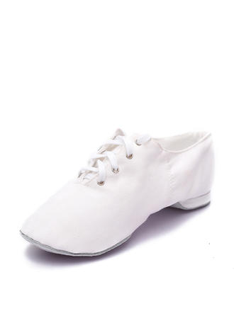Women's Jazz Flats Canvas Dance Shoes