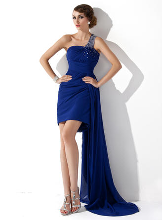 Princess Sheath/Column Chiffon Cocktail Dresses