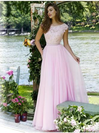 A-Line/Princess Prom Dresses With Lace