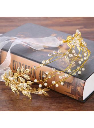 Señoras Elegante Aleación/La perla de faux Diademas con Perla Veneciano (Se venden en una sola pieza)