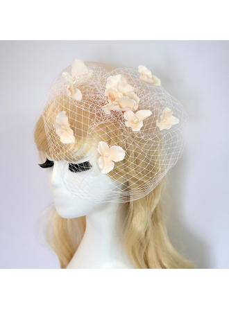 Net Yarn/Silk Flower With Silk Flower Fascinators Beautiful/Lovely Ladies' Hats
