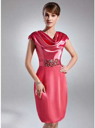Beautiful Sheath/Column General Plus Charmeuse Cocktail Dresses