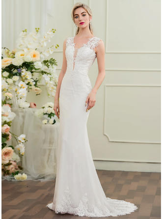 Lace Trumpet/Mermaid With Modern General Plus Wedding Dresses