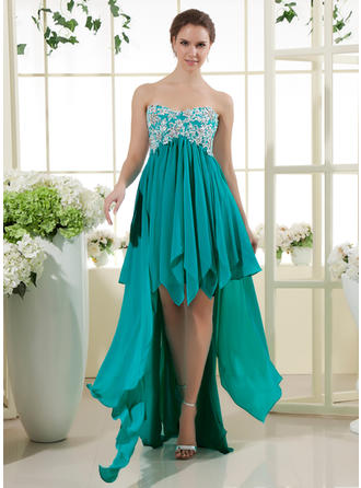 A-Line/Princess Prom Dresses Flattering Asymmetrical Sweetheart Sleeveless
