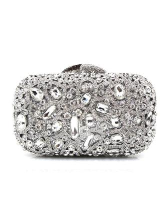 Clutches/Wristlets Wedding/Ceremony & Party Acrylic/PU Clip Closure Gorgeous Clutches & Evening Bags