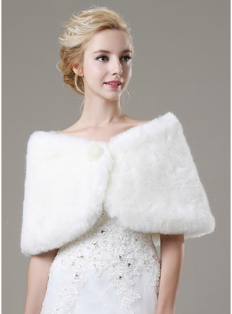 Shawl Fashion Faux Fur With Beading Other Colors Wraps