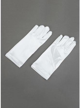 Elastic Satin Children's Gloves Wrist Length Flower Girl Gloves Cotton Gloves