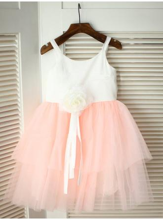 Satin/Tulle A-Line/Princess Flower(s) Beautiful Flower Girl Dresses