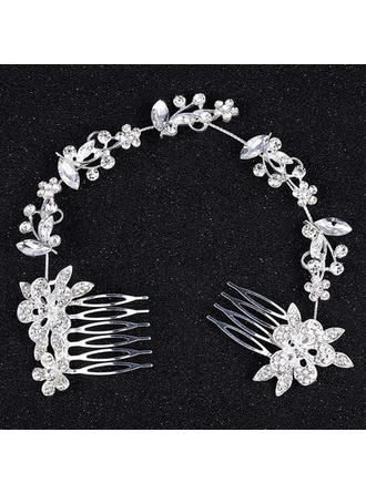 Alloy Combs & Barrettes With Rhinestone (Sold in single piece) (042133248)