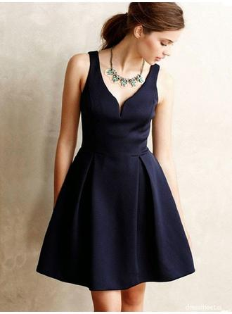 Fashion Homecoming Dresses A-Line/Princess Short/Mini V-neck Sleeveless
