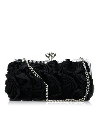 Clutches Wedding/Ceremony & Party Silk Kiss lock closure Lovely Clutches & Evening Bags