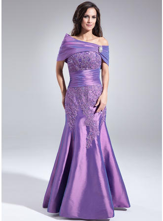 Trumpet/Mermaid Sweetheart Floor-Length Mother of the Bride Dresses With Lace Beading Sequins