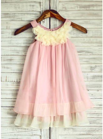 30D Chiffon Empire Ruffles Chic Flower Girl Dresses