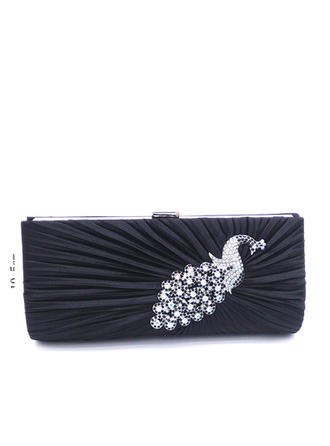 Clutches/Totes/Luxury Clutches Wedding/Ceremony & Party/Casual & Shopping/Office & Career Satin/Crystal/ Rhinestone Snap Closure Elegant Clutches & Evening Bags